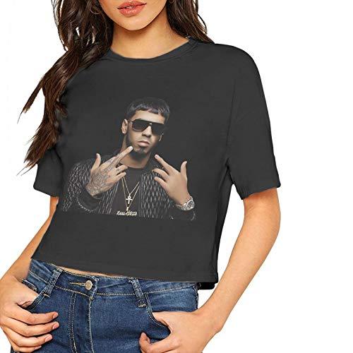 Anuel-Aa - Camiseta de manga corta para mujer con estampado