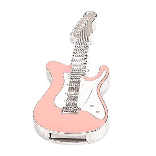 Skyeye Rosa Guitarra Eléctrica de Cristal U Disco Modelo U Disco USB...