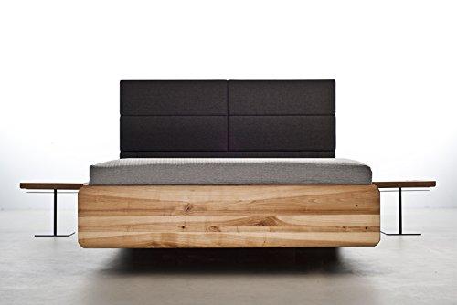 MAZZIVO BOXSPRING Hochwertiges Holz Bett Schlicht & Zeitlos filigran Modern Edel & Elegant - Italienisches Design 120 140 160 180 200 Überlänge Eiche Erle Buche Esche Kirschbaum (Kirsche, 200 x 210)