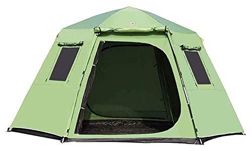 pwmunf Tienda de campaña para Acampar al Aire Libre Configuración fácil de Acampar Tienda de campaña Ligeras, Senderismo y Viajes de montaña (Color : Green)