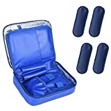 Goldwheat 4 Ice Packs Insulin Cooler Case Travel Insulin Bag Waterproof Organizer