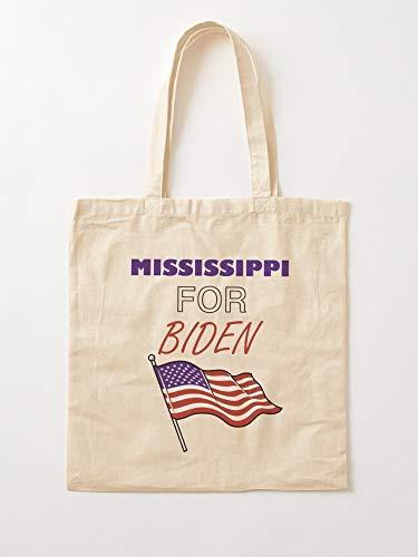 Sweetino Mississippians Mississippi 2020 Kamala For Supports And Joe Biden Tote Cotton Very Bag | Bolsas de supermercado de lona Bolsas de mano con asas Bolsas de algodón duraderas