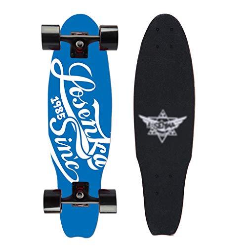 Standard Skateboard 27 Zoll komplette Skateboards Tricks Skateboard Outdoor-Sportarten 68cm Ahornbrett Geeignet for Jungen Mädchen Erwachsene (Color : Blue)