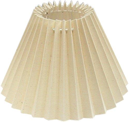 Tisch-Lampenschirm Cotton-Plissee, natur-beige Du=25/Do=9,5/schräge Höhe=16cm