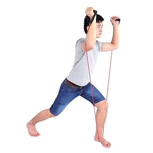 LZKW Cable de Ejercicio Seguro, Cuerda de tracción, cómodo TPE de Gran Elasticidad para Gimnasio, Interior, Oficina, hogar(Red, 5 * 9 * 1200mm)