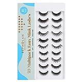 BEPHOLAN False Eyelashes, Fake Eyelashes,10 Pairs Different Mixed Styles Natural Lashes For Makeup ,5D Faux Mink Lashes,100% Handmade,Super Soft & Reusable