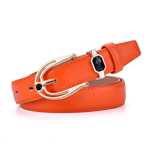 HYDYI-PD Beiläufiger Dame Gürtel der Dame Leather gürtelart und weise, orange, EIN hundert und zehn
