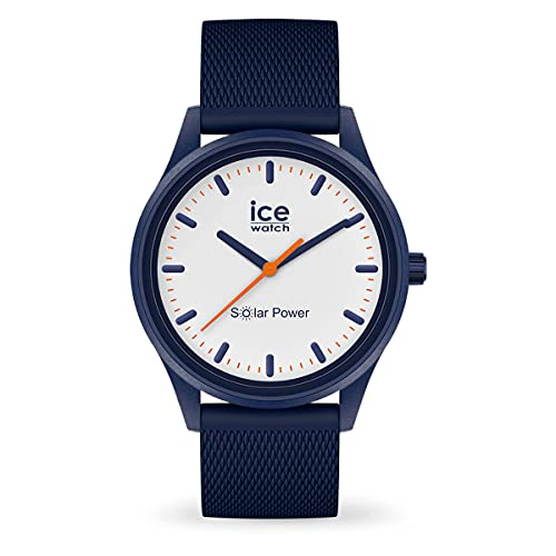 ICE-WATCH - ICE solar power Pacific Mesh - Blaue Herren/Unisexuhr mit Silikonarmband - 018394 (Medium)