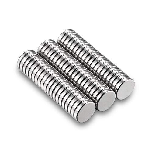 Magnete 60 Stück Büro Magnete Klein für Whiteboard Pinnwand Magnettafel bänder Mini Magneten Rund 10 x 2 mm