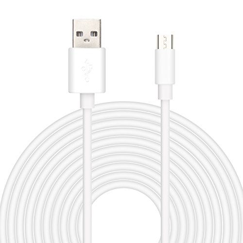 25ft USB Power Extension Cable Power Cord for Wireless Home Security Camera, Kasa Cam, Wyze Cam, YI Cloud, Nest Cam, Netvue, Furbo Dog, Blink, Amazon Cloud Cam Oculus Go (USB Cable, White)