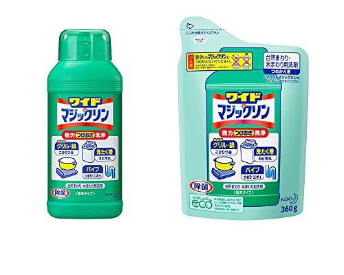 【セット品】 ワイドマジックリン 台所用洗剤 粉末 本体 400g + 詰替用 360g(各1個・計2個)