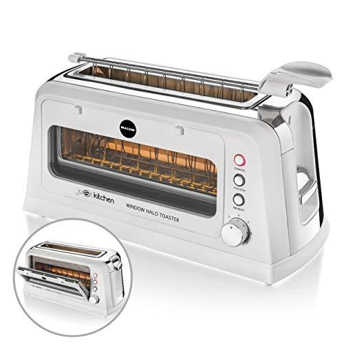 MACOM Just Kitchen 829 Window Halo Toaster - Tostadora halógena con ventana