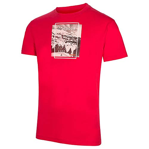 Trango Camiseta Neru Tricot Homme, Rouge foncé, M