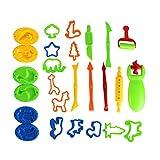 stobok Juego de herramientas para amasar Tire Forma Moldes Moldes rodillo plastilina juguete 26)