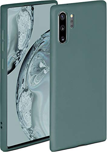 ONEFLOW Soft Hülle kompatibel mit Samsung Note10 Plus (4G/5G) Hülle aus Silikon, erhöhte Kante für Displayschutz, zweilagig, weiche Handyhülle - matt Petrol