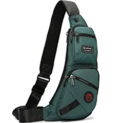 """✅【Highest quality】Durable and lightweight outdoor sling bag. It's the perfect size and appears to have a very solid construction. The size of it is bigger than a fanny pack, but not as big as a backpack. ✅【Dimension】7.8""""L x 16""""H x 3.9""""W. Main pocket ..."""