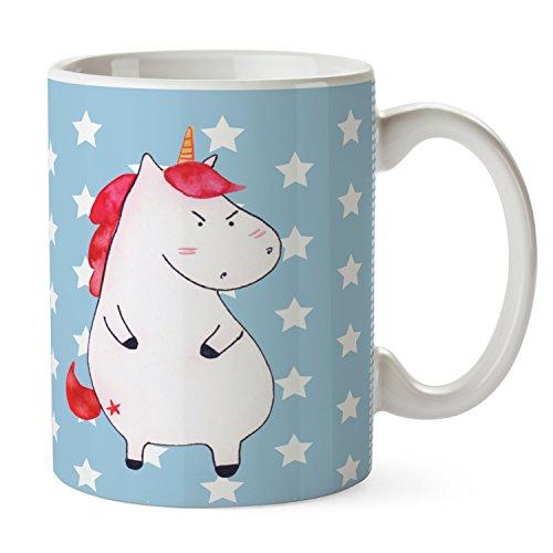 Mr. & Mrs. Panda thee, kantoor, beker Eenhoorn boos - Kleur Blauwe Pastel
