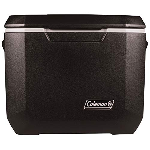 Coleman Rolling Cooler | 50 Quart Xtreme 5 Day Cooler with Wheels | Wheeled Hard Cooler Keeps Ice Up to 5 Days, Black