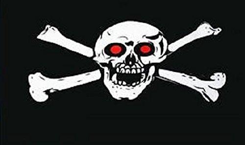 U24 Flagge Fahne Pirat mit roten Augen 90 x 150 cm