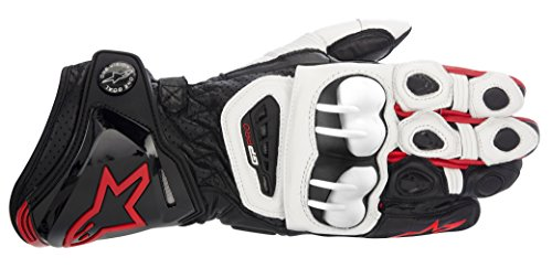 Alpinestars Gp Pro Motorradhandschuhe, Farbe schwarz-weiss-rot, Größe S