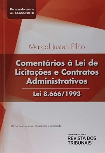 Comentários À Lei De Licitações E Contratos Administrativos Lei 8.666/1993