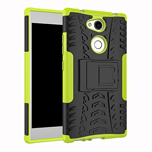 betterfon | Sony Xperia L2 hülle Outdoor Handy Tasche Hybrid Hülle Schutz Hülle Panzer TPU Silikon Hard Cover Bumper für Sony Xperia L2 Grün