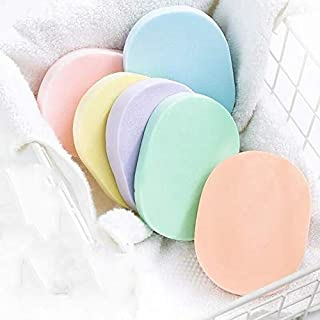 QZ Colorful Oval Sponge Facial Washing Cleansing Pads Reusable Facial Sponge Facial Cleansing Sponge Makeup Tools