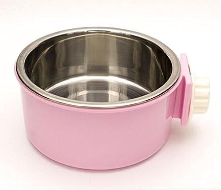 HFZLL Hängende Edelstahl pet Bowl Käfig Hund Käfig Käfig Käfig hängende Schüssel Katze Hund Katze Wasser Schüssel essen Schüssel essen Schüssel Haustier versorgt B01NBI8NC8 | Verwendet in der Haltbarkeit  91b6ea