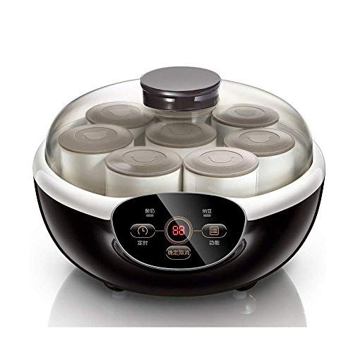 Zixin Máquina de Yogur Casa, Máquina de fermentación pequeña multifunción Totalmente automática Copa de cerámica Copa de cerámica Natto Máquina casera