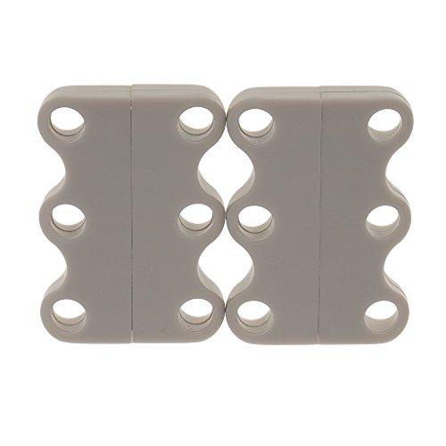 Magnetischen Schnürsenkel Magnetverschluss für Schuhe Nie wieder Schuhe binden (42*25*7mm, Grau)