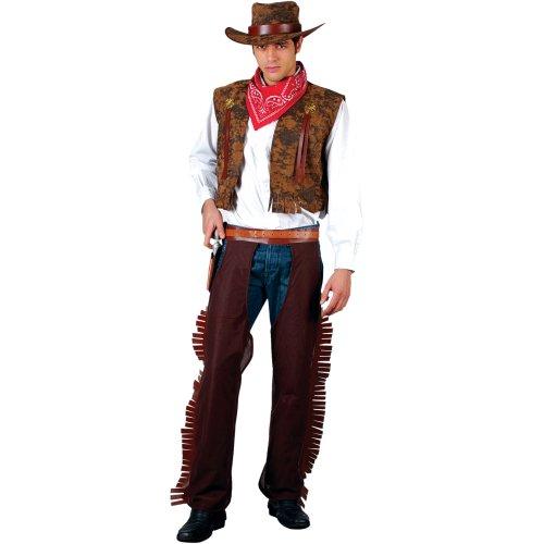 Wild - Disfraz de vaquero del oeste para hombre, talla L (EM-3038. L)
