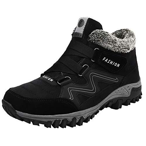 Mujer Zapatos Invierno Hombre Trekking Botas de Nieve Senderismo Antideslizantes Piel de...