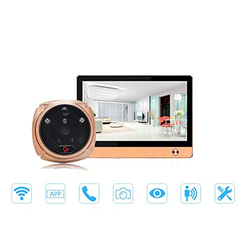DIOI Intelligente elektronische Cat Eye, WiFi Video bel, Remote Video Call/Motion Detection/Video Surveillance Deurbel Cat Eye