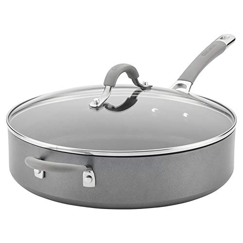 Circulon 5-Qt. Covered Sauté with Helper Handle Hard Anodized Aluminum Saute Pan, 5 Quart, Oyster...