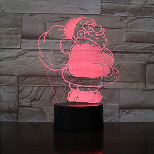 wangZJ3D Optical Illusion Tisch Schreibtischlampe/Dragon/Heißluftballon/Weihnachtsmann/Bogenschießen/7 Farbwechsel Nachtlichter/Nachtlicht/Wohnkultur Weihnachtsmann
