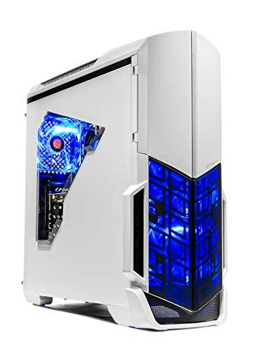 [Ryzen & GTX 1050 Ti Edition] SkyTech Archangel Gaming Computer Desktop PC Ryzen 1200 3.1GHz Quad-Core, GTX 1050 Ti 4GB, 8GB DDR4 2400, 1TB HDD, 24X DVD, Wi-Fi USB, Windows 10 Home 64-bit (Renewed)