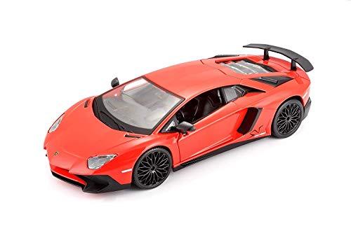 Bburago Lamborghini Aventador Lp750-4Sv Scala 1/24 Modellismo Auto, Multicolore, 4893993210794
