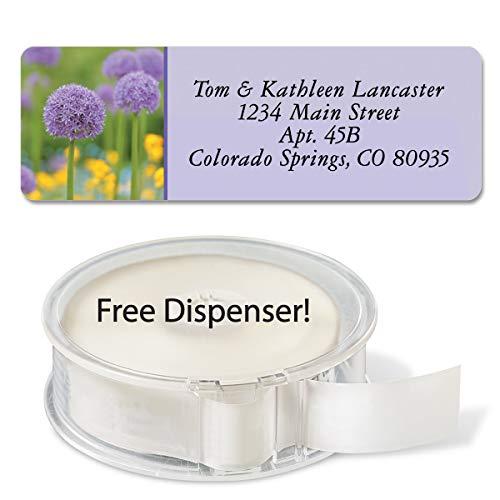 Floral Fantasy Rolled Address Labels (5 Designs) Roll of 250