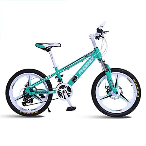 Bicicleta para niños Bicicleta de Montaña para Niños de 20 Pulgadas, Freno de Disco Doble 21 Velocidades para Jóvenes de 6 A 15 Años con Marco de Aleación de Aluminio Commuter de Horquilla Suspensión