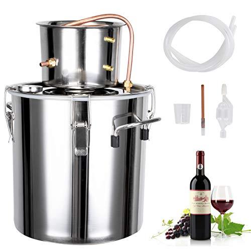 Distillatore di alcol 5 Gal Moonshine Still Kit Home Distiller High Seal con accessorio in rame per whisky fai da te, brandy, acqua distillata, idrolati