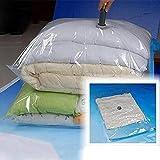 Bolsa de Vacío Grande Transparente Frontera Plegable Almohada de Compresión Organizador Bolsa de Almacenamiento Ahorro Bloqueo Paquete - 50x60cm 1pc