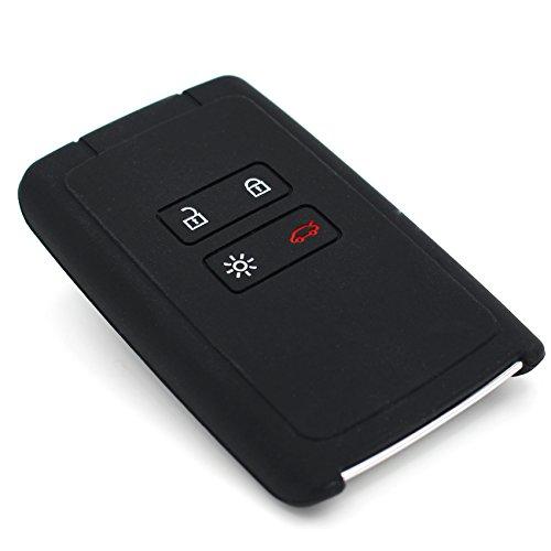 Schlüssel Hülle RC für 4 Tasten Autoschlüssel Silikon Cover CoverYourKey (Schwarz)