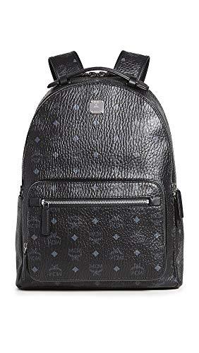 MCM Men's Stark Visetos Backpack, Black, One Size