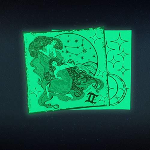 Lichtgevende 12 sterrenbeeld Gemini Muurstickers Op Donkere Muren Gloeiende Stickers Kinderen Kamer Slaapkamer Woonkamer Woonkamer Huisdecoratie