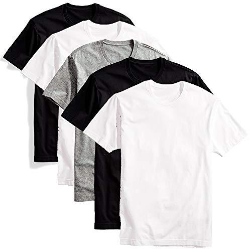 Kit com 5 camisetas básicas masculina t-shirt algodão colors tee (GG)