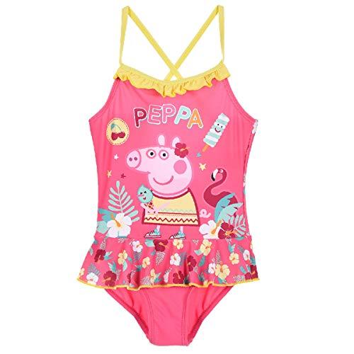 Peppa Wutz - Peppa Pig Badeanzug Bademode (Pink 2, 116)