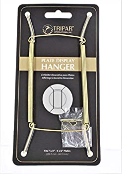 Tripar Plate Hanger Clear Plastic Coated Adjusts7  To 10  Dia Carded