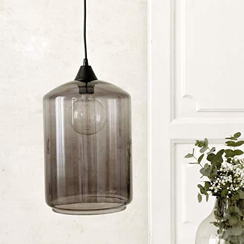 Kenay Home Lámpara De Techo Bend, Negro, 22x32x22cm (WxHxD)