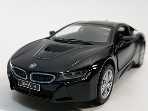 Kinsmart BMW Black i8 Hybrid Plug-In 2 Door Coupe 1/32 Scale Diecast Sports Car