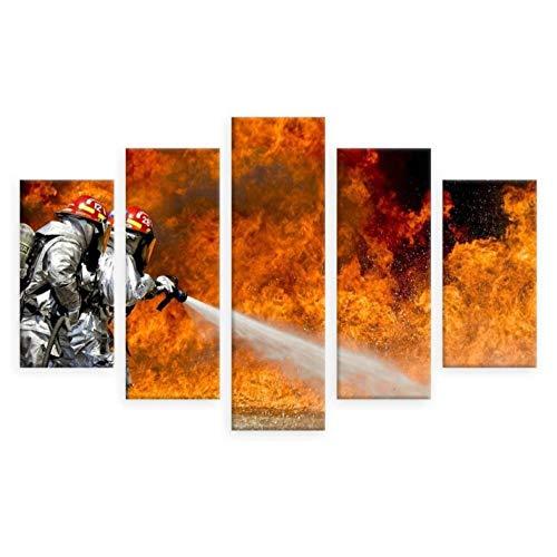 AQNY affiche frame voor de woonkamer kunst afbeelding hd afdrukken 5 bord brandweerman brandblussers op canvas wooncultuur